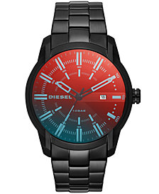 Diesel Men's Armbar Black Stainless Steel Bracelet Watch 44mm