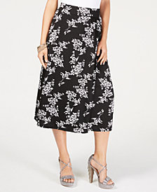 Thalia Sodi Printed Wrap Maxi Skirt, Created for Macy's