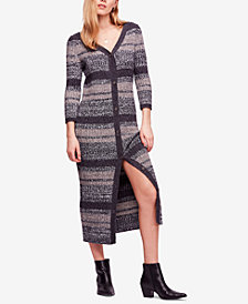 Free People Cozy Up Cardigan Midi Dress