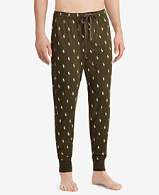 Polo Ralph Lauren Men's Pony-Print Cotton Jogger Pants