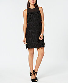 MICHAEL Michael Kors Feather-Trim Dress
