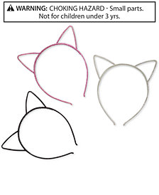 On the Verge Little & Big Girls 3-Pk. Glitter Cat-Ear Headbands