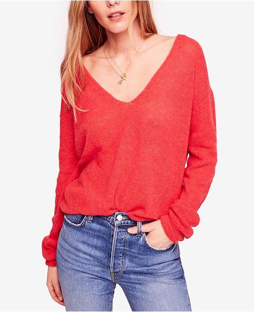 80ee5c9e36d4 Free People Gossamer V-Neck Sweater & Reviews - Sweaters - Women ...