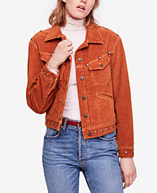 Free People Nelson Studded Corduroy Jacket