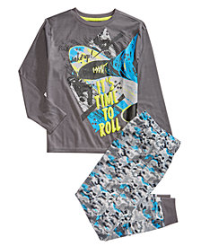 Max & Olivia Little & Big Boys 2-Pc. Time To Roll Jogger Pajama Set
