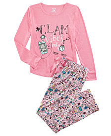 Max & Olivia Little & Big Girls 2-Pc. GLAM Graphic Pajamas Set