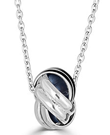 "Love Knot 18"" Pendant Necklace in Sterling Silver"