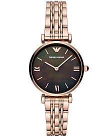 Women's Rose Gold-Tone Stainless Steel Bracelet Watch 32mm
