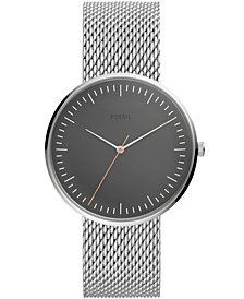 Fossil Men's Essentialist Stainless Steel Mesh Bracelet Watch 42mm