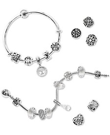 Bead Set Charm and Bracelet Gift Set Collection in Sterling Silver