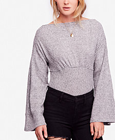 Free People Crazy On You Cropped Thermal Top