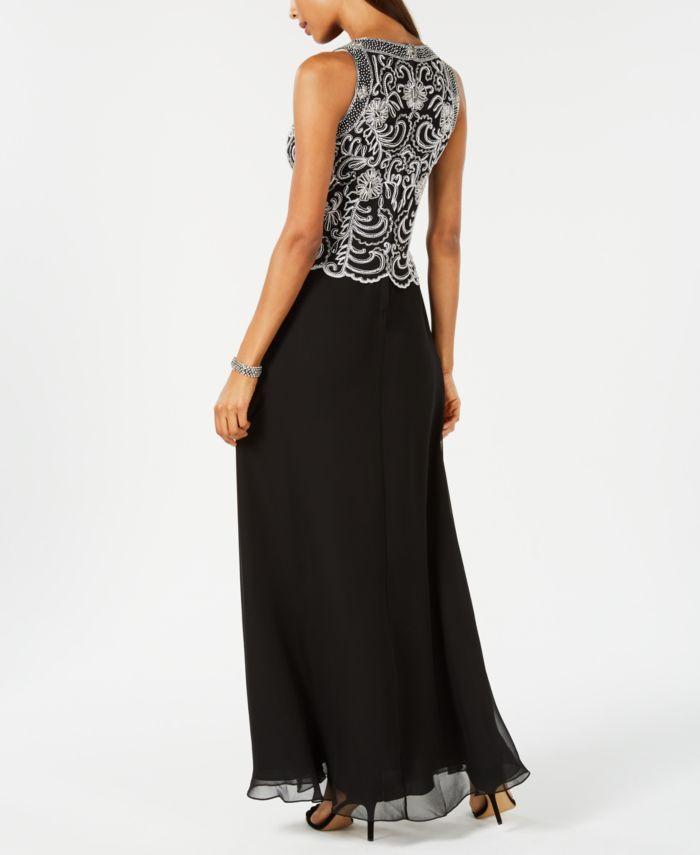 J Kara Beaded Gown & Chiffon Scarf & Reviews - Dresses - Women - Macy's