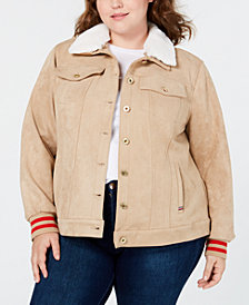 Tommy Hilfiger Faux-Suede Trucker Jacket, Created for Macy's