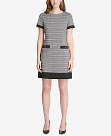 Tommy Hilfiger Houndstooth-Print Shift Dress