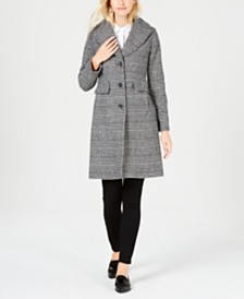 e304ed18f5 Anne Klein Single-Breasted Wool Coat & Reviews - Coats - Women - Macy's