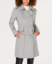 Vince Camuto Petite Double-Breasted Peacoat