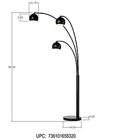 Pacific Coast Crosstown Arc Floor Lamp