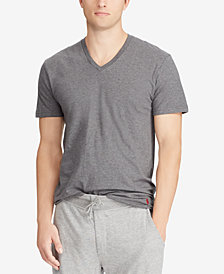 Polo Ralph Lauren Men's Classic-Fit V-Neck Cotton T-Shirt, 3+1 Bonus Pack