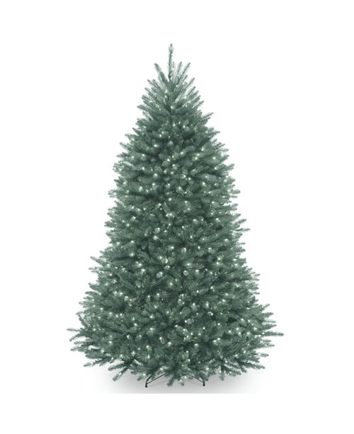 National Tree Company National Tree 7' Dunhill®  Blue Fir Hinged Tree with  Clear Lights