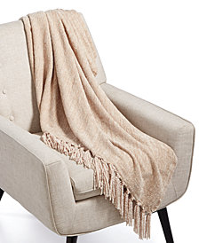 "Lacourte Gareth 50"" x 60"" Chenille Knit Throw, Created for Macy's"