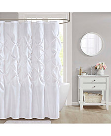 "Décor Studio Laurel 72"" x 72"" Faux-Silk Shower Curtain"