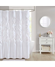 "CLOSEOUT! Décor Studio Laurel 72"" x 72"" Faux-Silk Shower Curtain"