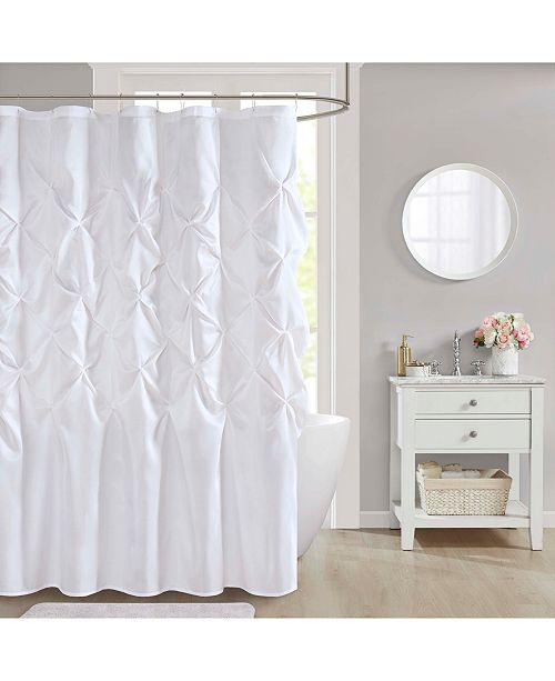 "JLA Home  Laurel 72"" x 72"" Faux-Silk Shower Curtain"