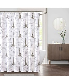 "Décor Studio Paris 72"" x 72"" Faux-Linen Shower Curtain"
