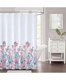 """Décor Studio Coral Bay 72"""" x 72"""" Faux-Linen Shower Curtain"""