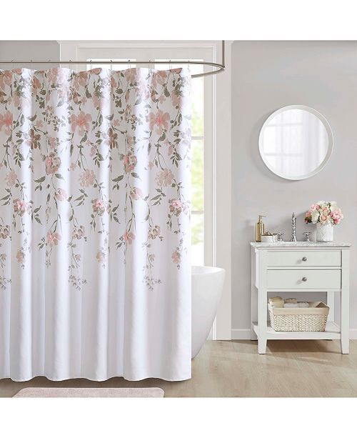 """JLA Home CLOSEOUT! Crystal 72"""" x 72"""" Shower Curtain"""