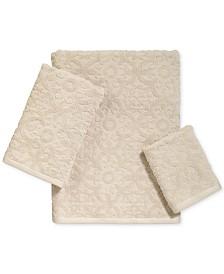 LAST ACT! Avanti Tiles Cotton Bath Towel Collection