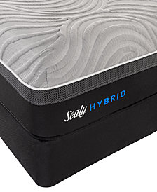 "Sealy Kelburn II 13"" Hybrid Cushion Firm Mattress Set- King"