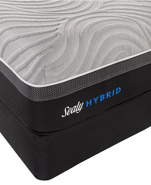 "Sealy Kelburn II 13"" Hybrid Cushion Firm Mattress Set- Queen"