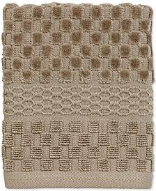 Avanti Checkerboard Cotton Terry Jacquard Washcloth