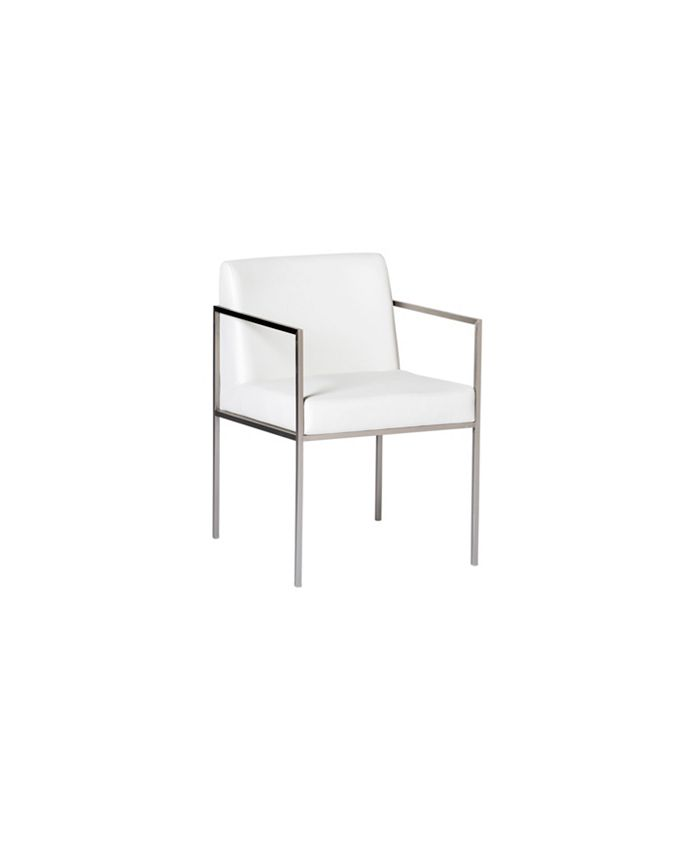 Moe's Home Collection - CAPO ARM CHAIR WHITE-SET OF TWO