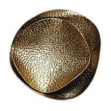 Hammered Gold Tray Set Of Two