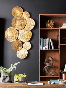 Small Circles Wall Decor Gold