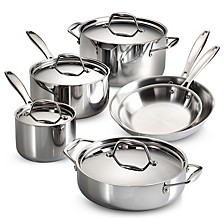 Gourmet Tri-Ply Clad 10 Pc Cookware Set
