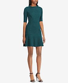 American Living Jacquard Drop-Waist Dress