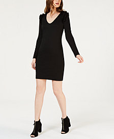 Trina Turk Eleanora Ruffle-Shoulder Shift Dress