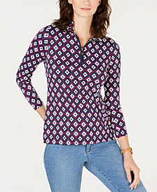 Charter Club Printed Top, Created for Macy's