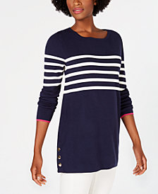 Charter Club Striped Sweater, Created for Macy's