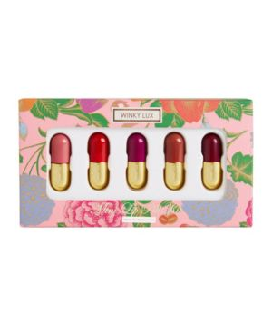 WINKY LUX 5-Pc. Mini Lip Pill Set in Best Selling Lip Velour Matte Shades In Pippy, Meow, Heart, Royal And City
