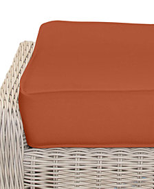Willough Outdoor Ottoman Replacement Sunbrella® Cushion, Quick Ship