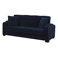 Susan Storage Arm Convert-a-Couch® in Navy Blue Velvet