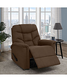 ProLounger® Wall Hugger Dark Brown Microfiber Recliner