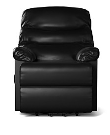 Wall Hugger Power Recline and Lift Chair in Black Renu Leather