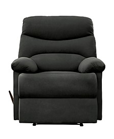 Sherwin Wall Hugger Recliner in Gray Microfiber