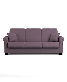Robert Linen Purple Convert-a-Couch®