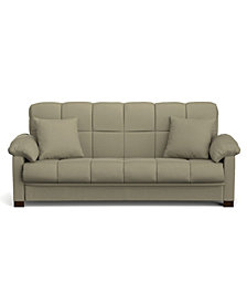 Maurice Convert-a-Couch in Sage Green Microfiber